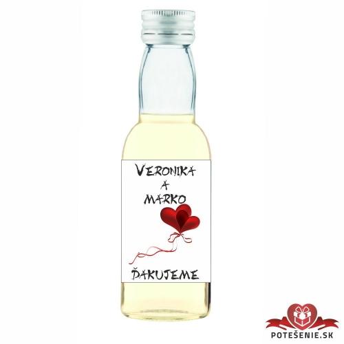Svadobné mini fľaštičky pre hostí, motív S225 - Svadobné fľaštičky malé