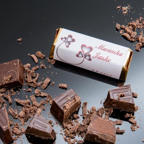 Svadobná čokoládka Rumba pre hostí, motív S020