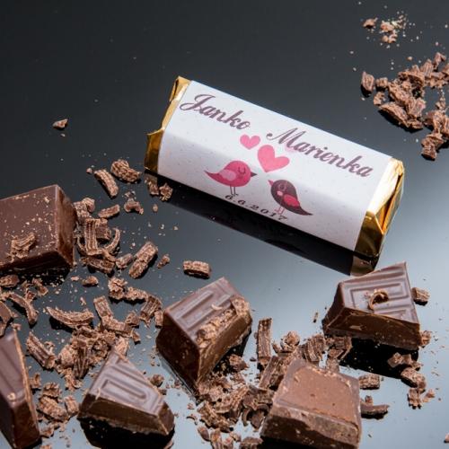 Svadobná čokoládka pre hostí - stredná SC28 - Svadobná Rumba