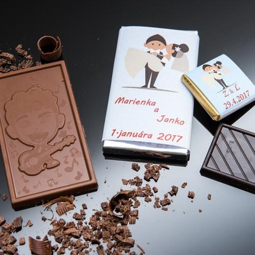 Svadobná čokoládka malá SCM02 - Svadobné čokoládky