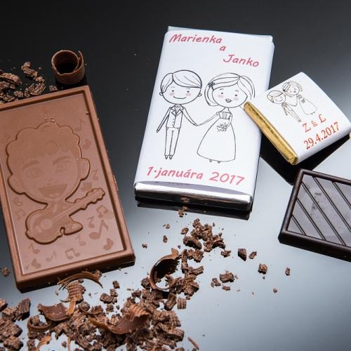 Svadobná čokoládka malá SCM07 - Svadobné čokoládky