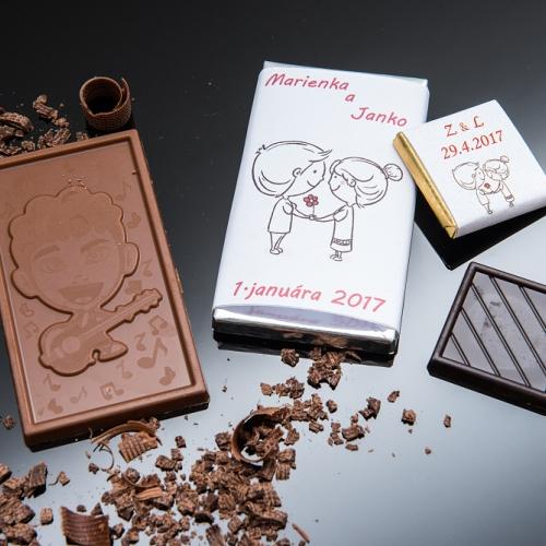 Svadobná čokoládka malá SCM24 - Svadobné čokoládky