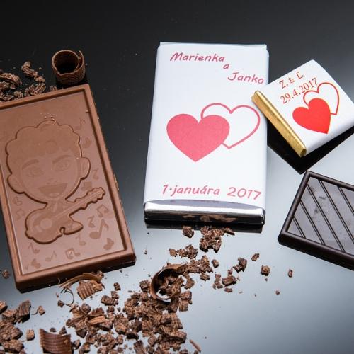 Svadobná čokoládka malá SCM32 - Svadobné čokoládky