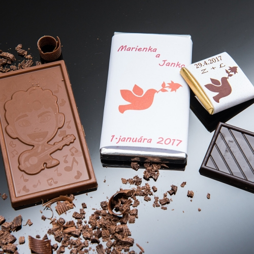 Svadobná čokoládka malá SCM33 - Svadobné čokoládky