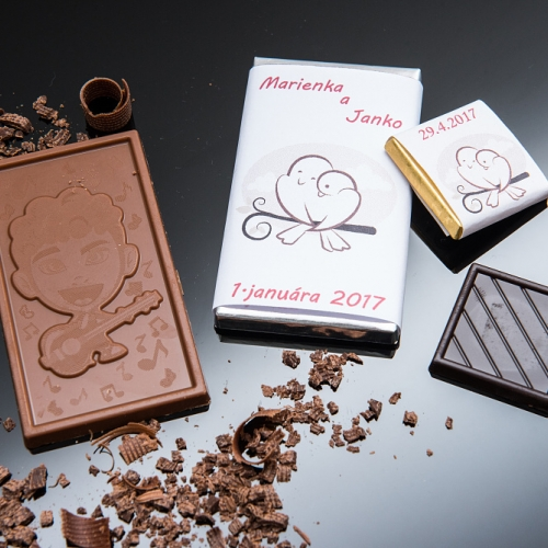 Svadobná čokoládka malá SCM43 - Svadobné čokoládky