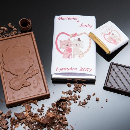 Svadobná čokoládka malá SCM45 - Svadobné čokoládky