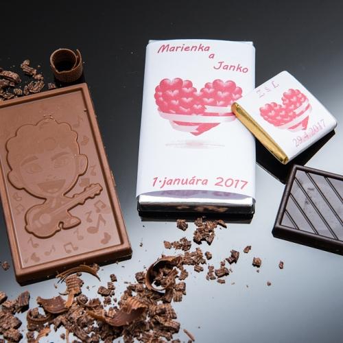 Svadobná čokoládka malá SCM46 - Svadobné čokoládky