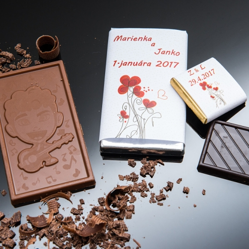 Svadobná čokoládka malá SCM66 - Svadobné čokoládky