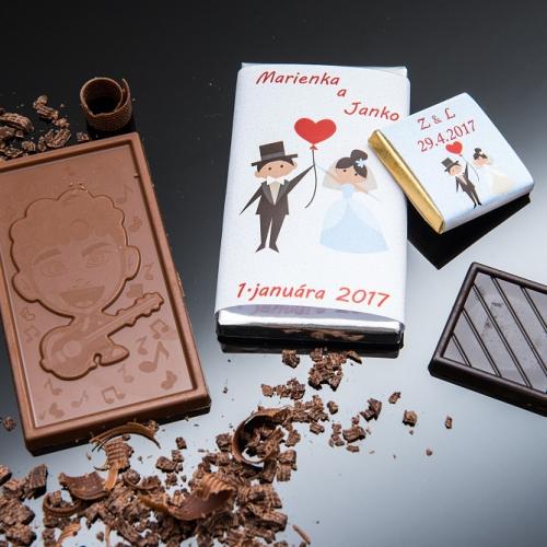 Svadobné mini čokoládky pre hostí, motív S267