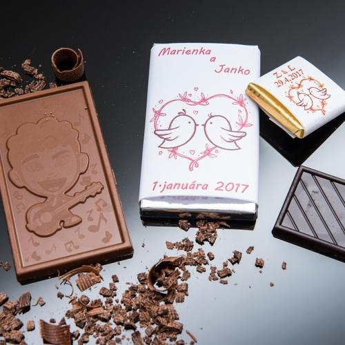 Svadobné mini čokoládky pre hostí, motív S286