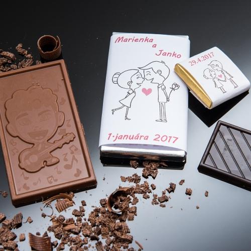 Svadobné mini čokoládky pre hostí, motív S313