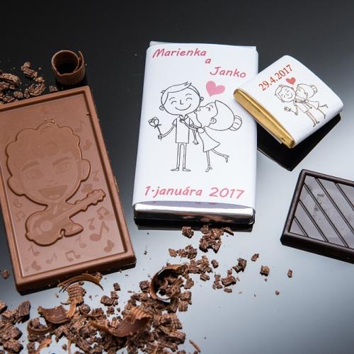 Svadobné mini čokoládky pre hostí, motív S319