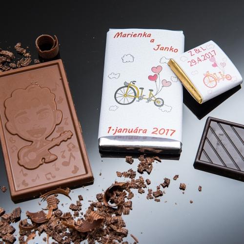 Svadobné mini čokoládky pre hostí, motív S330 - Svadobné mini čokoládky