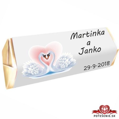 Svadobná čokoládka Rumba pre hostí, motív S057