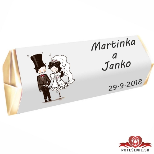 Svadobná čokoládka Rumba pre hostí, motív S066