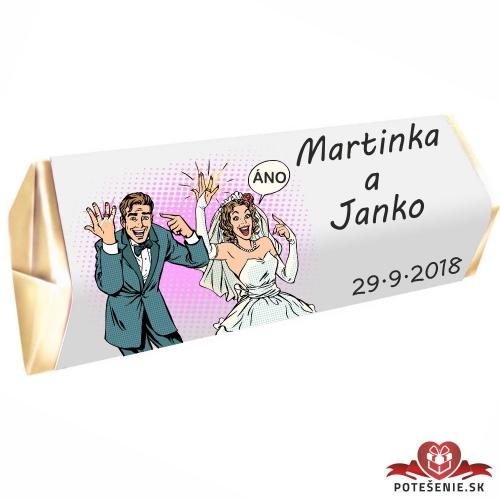 Svadobná čokoládka Rumba pre hostí, motív S073