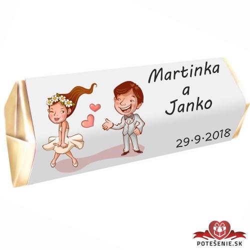 Svadobná čokoládka Rumba pre hostí, motív S082