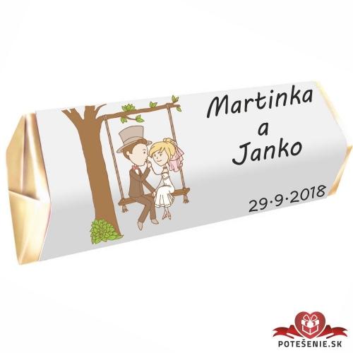 Svadobná čokoládka Rumba pre hostí, motív S096