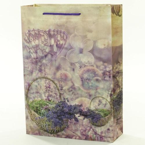 Darčeková taška kôš levanduľa 25x8,5x34,5cm