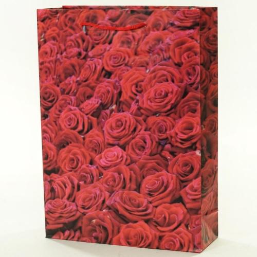 Darčeková taška ruže červené 25x8,5x34,5cm