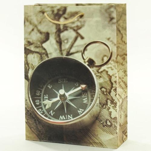 Darčeková taška vintage kompas+mapa 25x8,5x34,5cm