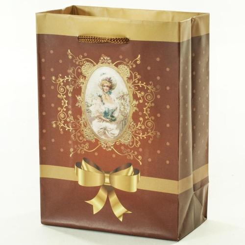 Darčeková taška vintage lady 11,5x6x16cm