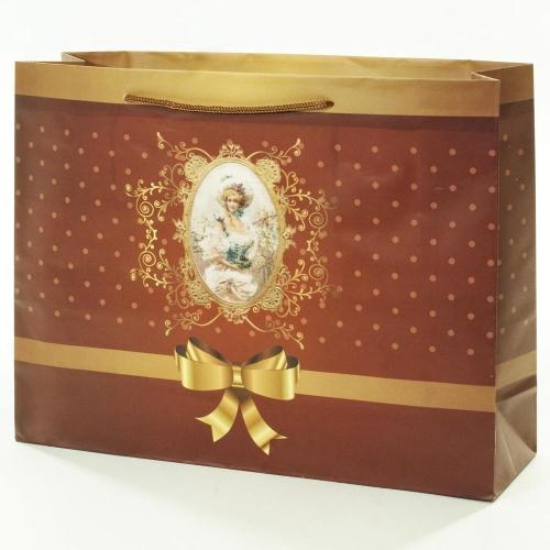 Darčeková taška vintage lady 37,5x10,6x28,5cm