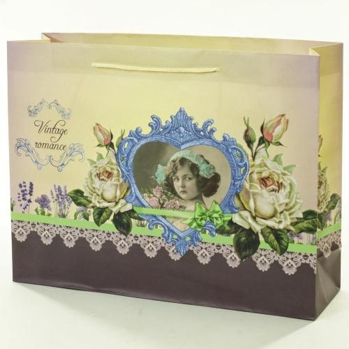 Darčeková taška vintage romance 37,5x10,6x28,5cm