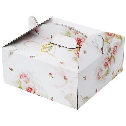 20 krabica výslužková so vzorom 20x20x9cm