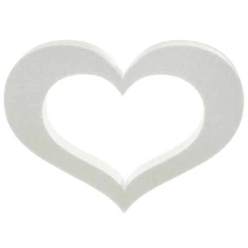 Polystyrén srdce obrys 30 cm