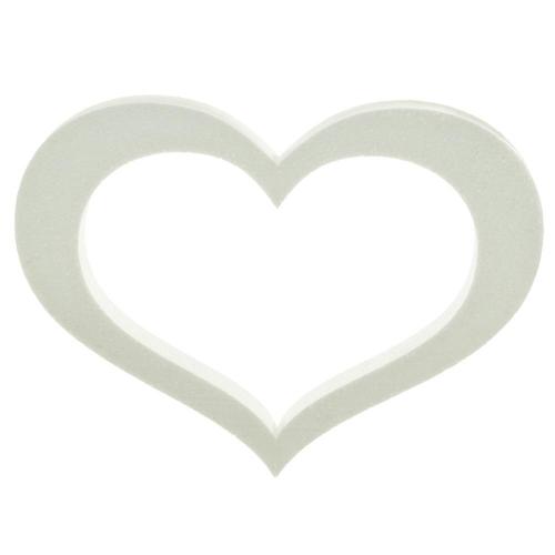 Polystyrén srdce obrys 40 cm
