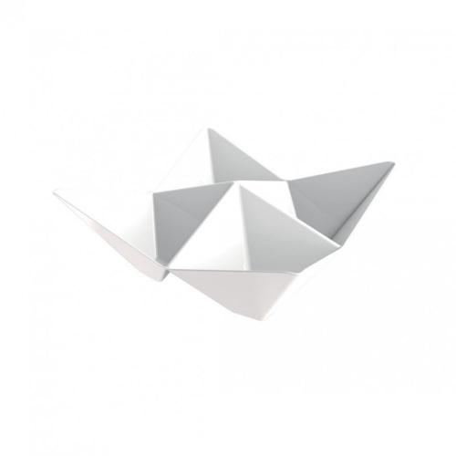 Plastová miska na Finger Food Origami, 103x103mm - Gold Plast