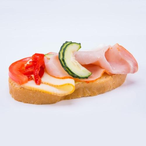 Obložený chlebík šunkovo syrový - Obložené chlebíky