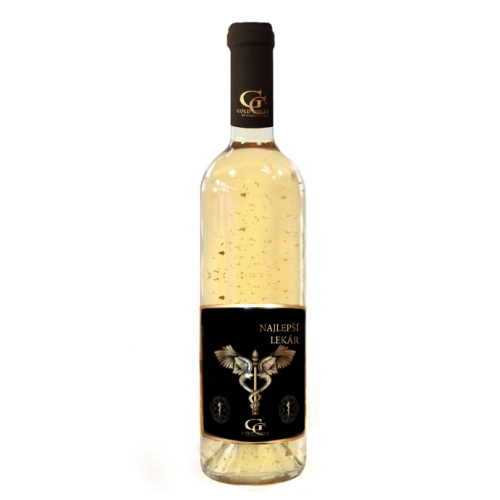 0,75 L Gold Cuvee - Biele so zlatými lupenmi 23 karát Najlepší lekár