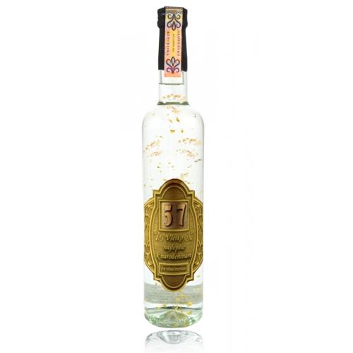 Darčeková fľaša - vodka (borovička) so zlatom Narodeniny (0-99) rokov