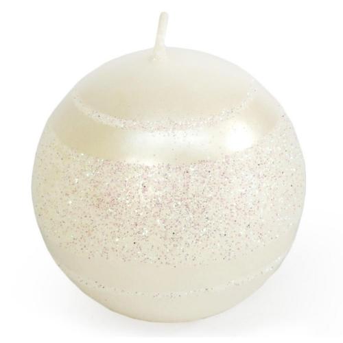 Briliant Met sviečka guľa 6cm perlová