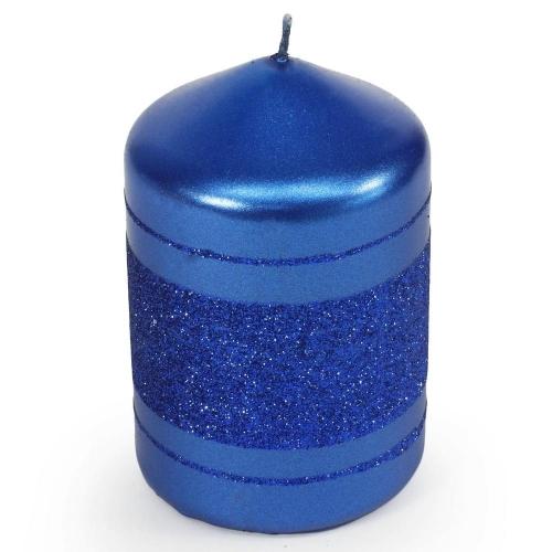Briliant Met sviečka valec 6/9cm modrá