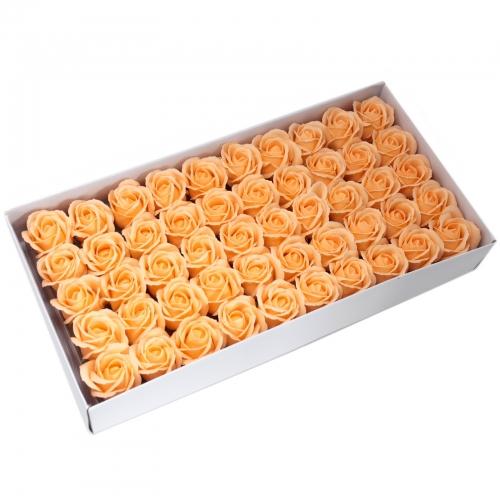 Mydlové kvety, stredná ruža - broskyňová