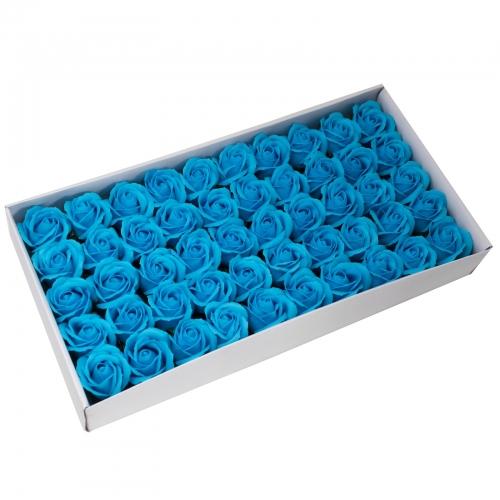 Mydlové kvety, stredná ruža - modrá - Ruže