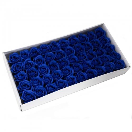 Mydlové kvety, stredná ruža - kráľovská modrá - Ruže