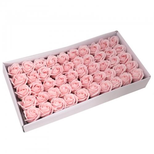 Mydlové kvety, stredná ruža - pastelová ružová - Ruže