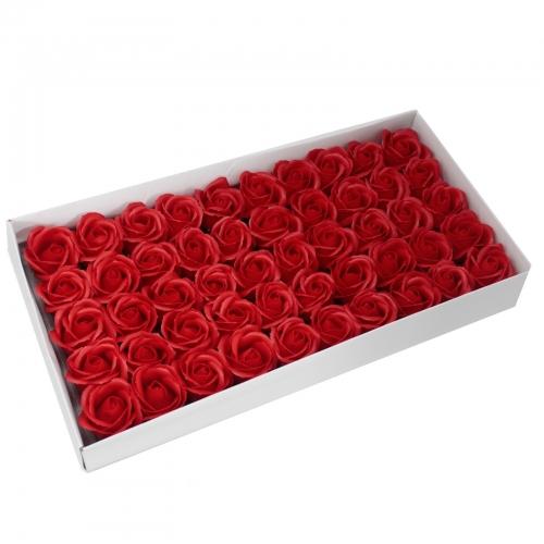 Mydlové Kvety - Stredná Ruža - Červená - Mydlové kvety