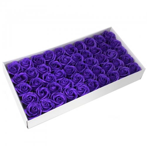 Mydlové kvety, stredná ruža - fialová