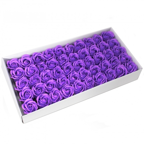 Mydlové kvety, stredná ruža - levanduľová - Ruže