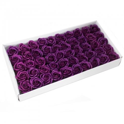 Mydlové kvety, stredná ruža - tmavá fialová - Mydlové kvety