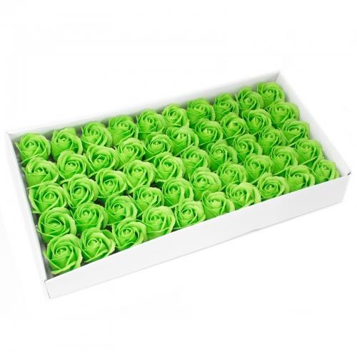 Mydlové kvety, stredná ruža - zelená