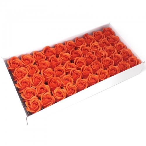 Mydlové kvety, stredná ruža - tmavá oranžová - Mydlové kvety