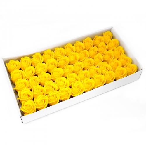Mydlové kvety, stredná ruža - žltá - Ruže