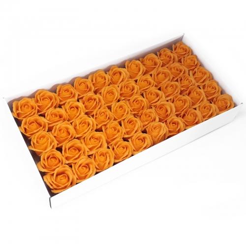 Mydlové kvety, stredná ruža - oranžová