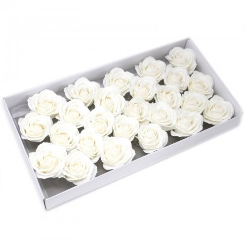Mydlové kvety, veľká ruža - biela - Mydlové kvety